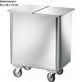 Cubos de basura cuadrados 115L DUAV4680