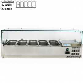 Vitrina de ingredientes 120cm DUVRX1200-330