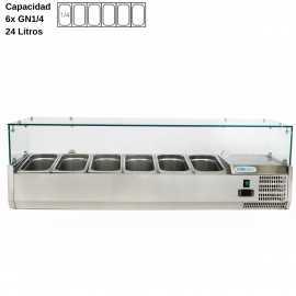 Vitrina de ingredientes 140cm DUVRX1400-330