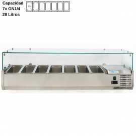 Vitrina de ingredientes 150cm DUVRX1500-330