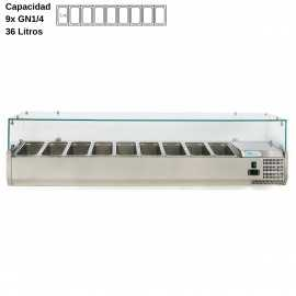 Vitrina de ingredientes 180cm DUVRX1800-330