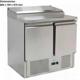 Mesa de ensaladas con tapa DUG-PS200-FC
