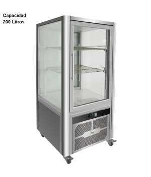 Expositor refrigerado Inox 200L DUG-VGP200R
