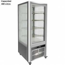 Expositor refrigerado Inox 408L DUG-VGP400R
