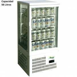 Expositor refrigerado Blanco 58L DUG-TCBD68
