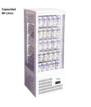 Expositor refrigerado Blanco 98L DUG-TCBD98
