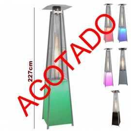 Estufa piramide a gas iluminacion LED
