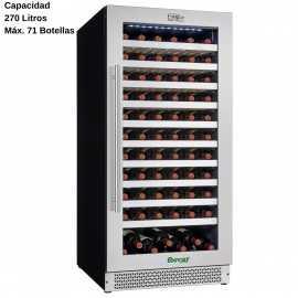 Cava de vinos de cristal 71 Botellas DUG-VI120S