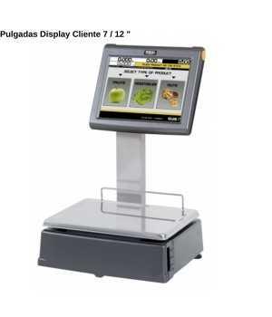 Balanza táctil 2 pantallas Etiquetas CYPES11000008