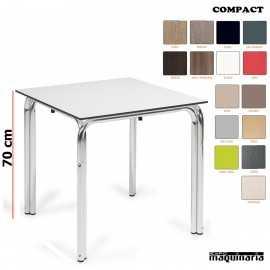 Mesa terraza tablero compact doble pata
