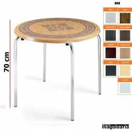 Mesa terraza tablero redondo IM8080SM