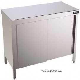 Mesa inox puerta Batibles 800x700mm DIFCP70080
