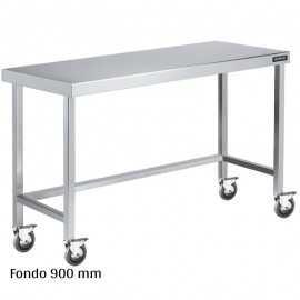 Mesa inox con ruedas Fondo 900