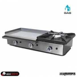 Plancha de gas con fogón IBER-PG606COG1