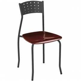 Silla Bar 1R32MAD hostelería asiento madera plastificado negro