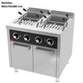 Cuece pastas electrico Doble 25L+25L F750