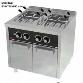 Cuece pastas industrial 25L+25L GAS F750