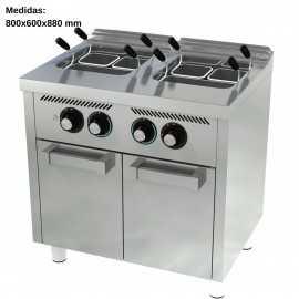 Cuece pastas electrico Gas 25L+25L F600