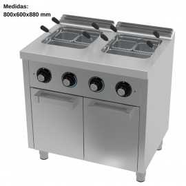 Cuece pastas electrico 25L+25L Fondo 60
