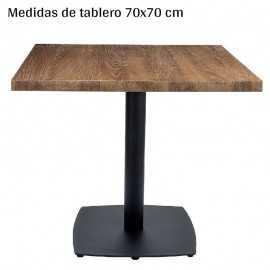 Mesa melamina pie cuadrado IM9322-70