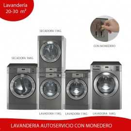 Kit Lavanderia Autoservicio 20 - 30 m² MONEDERO