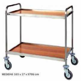 Carro de servicio Color madera 100x60 DUCA1001