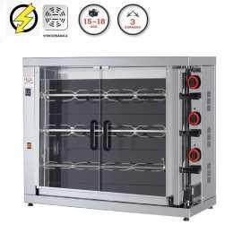 Maquina de asar pollos Vitrocerámica FE315-EKO-V
