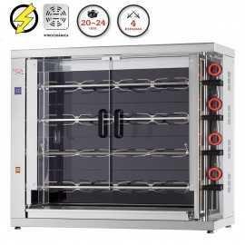 Maquina de asar pollos Vitrocerámica FE420-EKO-V