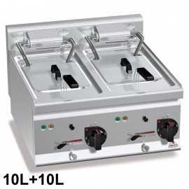 Freidora eléctrica 10+10 litros RME6F10-6B