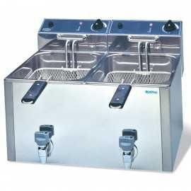 Freidora electrica INFR1010LG doble-10+10 Litros