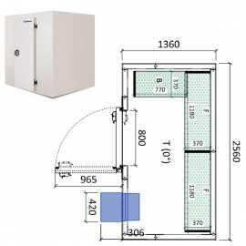 Camara frigorifica conservacion INPACKCAMARA4-R