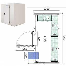 Camara frigorifica conservacion INPACKCAMARA5-R