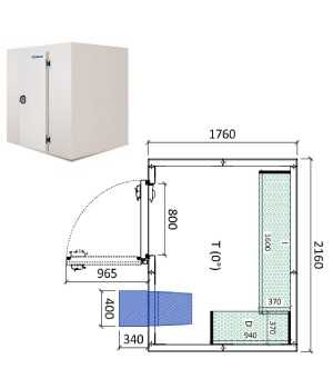 Camara frigorifica conservacion INPACKCAMARA8-R