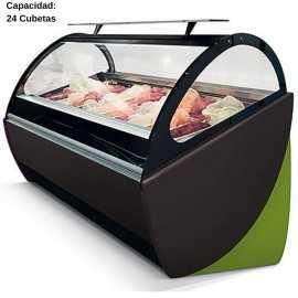 Vitrina de helados artesanales 24 Cubetas IFZ24