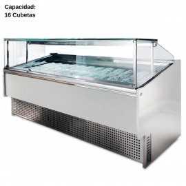 Vitrina de helados artesanales 16 Cubetas IFO16
