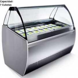 Vitrina de helados artesanales 7 Cubetas IFJ1000