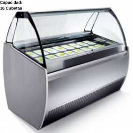 Vitrina de helados artesanales 16 Cubetas IFJ2000