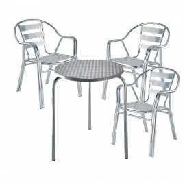 Conjunto aluminio CLASSIC 3sillasR1mesa