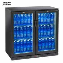 Nevera expositora de bebidas 200L Doble