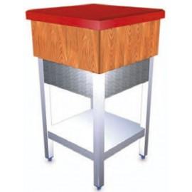 Pilon de corte en troceo de madera y fibra con faldón FR030702
