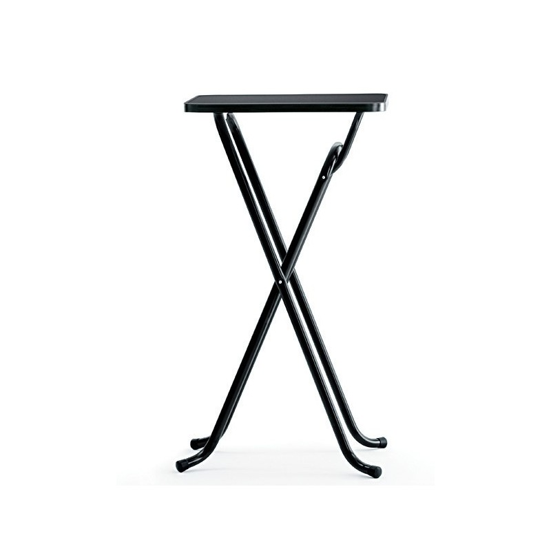 Mesa de bar alta abatible con tablero personalizable for Mesa cristal 60 x 60