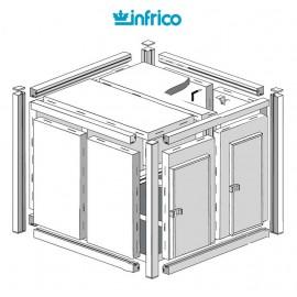 Camara modular fresco-frio INCM (80 mm) Altura 214 cm