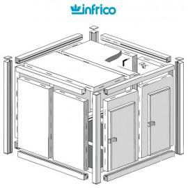 Camara modular fresco-frio INCM (100 mm) Altura 2340 cm