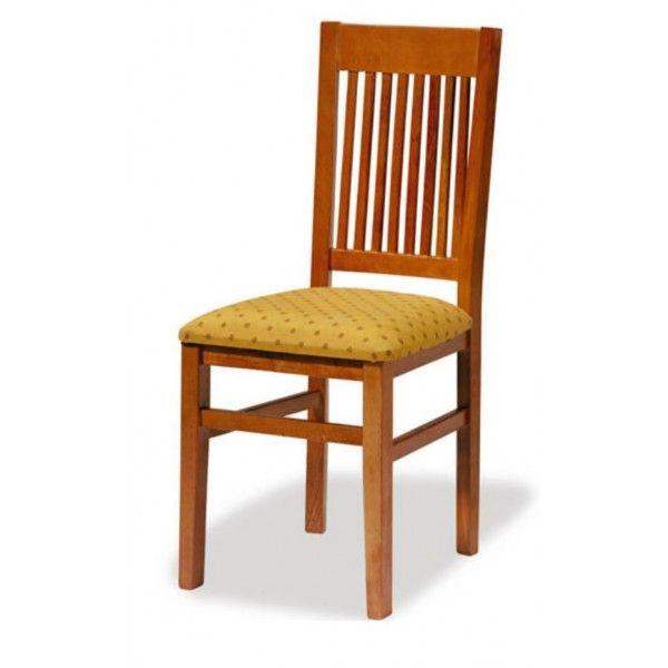 Silla de madera de haya 1t145 asiento tapizado para bares for Sillas de madera para bar