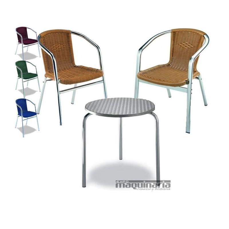 Mesa y sillones para terraza medula3 conjunto 3sillones 1mesa for Oferta conjunto terraza