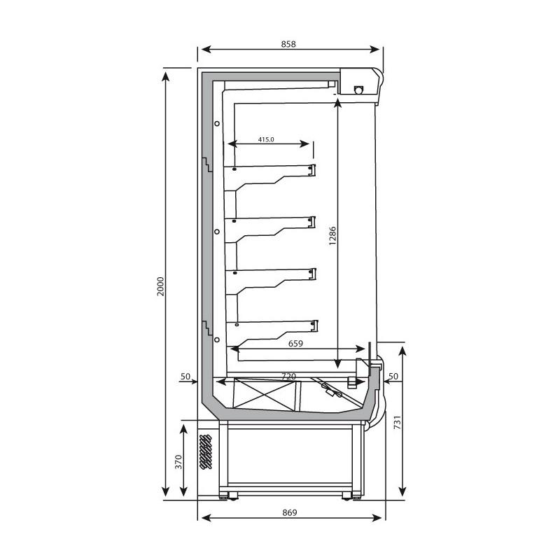 Vitrina Carnicer A Refrigerada Eml25 M1 2 5 Metros