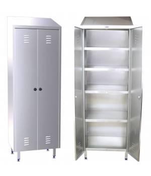 Armario con estanterias inox y dos puertas - Armarios de acero inoxidable ...