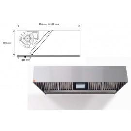 Campana de pared ECO R Monobloc 150 cm largo