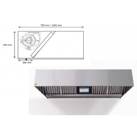 Campana de pared ECO R Monobloc 200 cm largo
