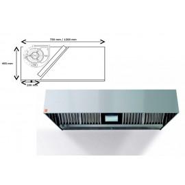 Campana extractora de pared ECO R monobloc 400º 1000 cm largo